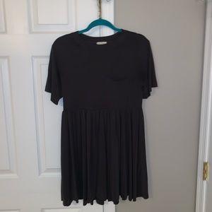UO Charcoal Babydoll Dress